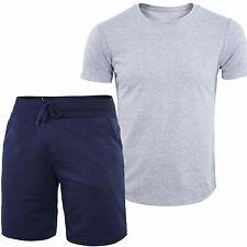 2 Pezzi T-Shirt + Shorts Uomo GIROGAMA Bermuda Fitness Maglia Manica Corta 7003