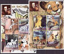 Rwanda 2005 - Walt Disney  (101 Dalmatians & The Lion King)