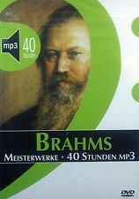 DVD-Rom BRAHMS - obras maestras, 40 horas mp3, biblioteca de música