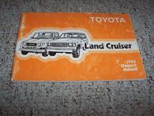 1985 Toyota Land Cruiser Original Owner's Owners User Manual Book