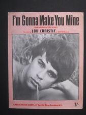 LOU CHRISTIE - 60's Sheet Music - I'M GONNA MAKE YOU MINE - Tony Romeo