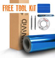Blue chrome vinyl adhesive car wrap 100ft x 5ft VVIVID8 with free car-wrap kit