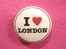 """''I LOVE LONDON''  NEW 1""""  BUTTON BADGE PIN UK IMPORT"""
