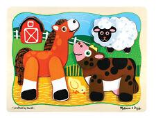 Melissa & Doug Barn Buddies - Layered Wood Puzzle  (NEW) 3740