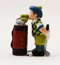 Golfer and Golf Bag Golf Lover Ceramic Magnetic Salt and Pepper Shaker Set 4""