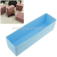 Handmade Soap Loaf Mold DIY Soap Cutter Tools 3D Rose Flowers Silicone Mould
