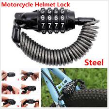 Motorcycle Scooter Bike Helmet Lock Telescopic Cable Anti-theft 4 Digit Password