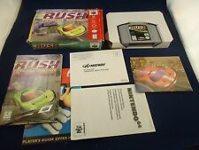 San Francisco Rush Extreme Racing  (Nintendo 64, 1997) N64 COMPLETE w/ POSTER!