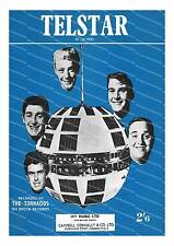Telstar by The Tornados ,  Vintage sheet music cover poster reproduction.