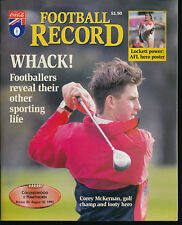 1995 AFL Football Record Collingwood Magpies v Hawthorn Hawks Aug 18 unmarked