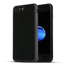 iPhone 7 Plus / 8 Plus Case Jet Black Rubber Shockproof Protective Glossy Shamos