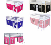 Tent for Midsleeper Cabin Bunk Bed Blue, Pink or Pirate Mid sleeper  - New