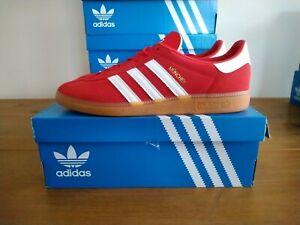 Adidas Originals Munchen Scarlet Red White Size 9 UK BNIBWT
