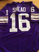 Vikings Norm Snead signed Jersey  W/COA