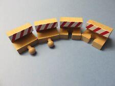 Prellbock-Set 4 tlg. rot weiss für Holzeisenbahn passend zu Brio, Eichhorn usw.