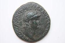 UNRECORDED RARE ANCIENT ROMAN NERO AS COIN NEPTUNE REVERSE 1st CENT AD 12CAESARS
