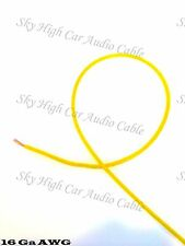 100 ft 16 Gauge AWG Primary / Remote Wire YELLOW Sky High Car Audio Lead Ga Feet