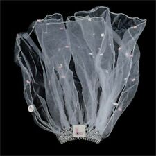 Flashing Bride to Be L Plate Veil & Tiara Hen Night Party Do Accessories