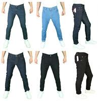 NEW  Mens Super Stretch Denim Jeans Fashion Casual Slim Fit Straight Fit