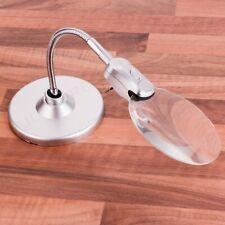 More details for large desktop magnifying glass with led light hands free magnifier optical lens