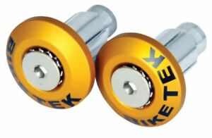 BIKETEK UNIVERSAL FLUSH FIT BAR END WEIGHTS TO FIT 13MM & 18MM INNERS - GOLD