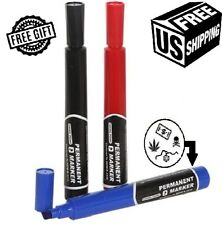 Diversion Safe Permanent Marker 3Pack Hidden Storage Home Security Car Stash Can