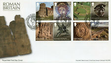 More details for gb history & archaeology stamps 2020 fdc roman britain hadrian's wall 8v set