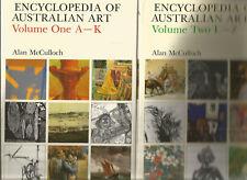ENCYCLOPEDIA OF AUSTRALIA ART by McCULLOCH 1984 Vol One A-K Vol Two L-Z 2 Books