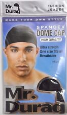 BRAND NEW MR DURAG #4320 BLACK SPANDEX DOME CAP ULTRA STRETCH ONE SIZE