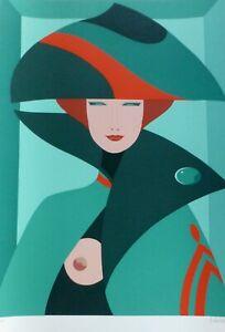 """Amleto Dalla Costa """"Retrato de mujer"""" 1979 HAND SIGNED Silkscreen Italian Artist"""