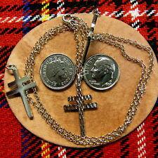 Sterling silver cross of lorraine pendant