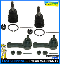 Set of 2 Front Lower Ball Joints & 2 Outer Tie Rod Ends For Honda Odyssey 99-04