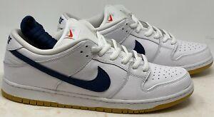 Nike SB Dunk Low Pro Orange Label White Navy Size 15  CZ2249 100 NO BOX TOP