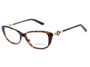 Versace Eyeglasses MOD. 3206 944 Tortoise Full Rim Frame Italy 52[]15 140