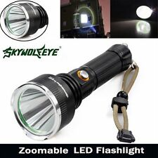 Waterproof 8000LM XML T6 LED 3 Modes Flashlight Rechargeable 18650 Torch Lamp
