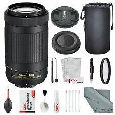 Nikon AF-P DX NIKKOR 70-300mm f/4.5-6.3G ED Lens W/ Basic Lens Bundle, UV Fil...