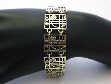 Bracelet Sterling Silver by Carrick Jewellery  Mackintosh Glasgow Rose design