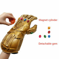 Thanos Marvel Avengers Infinity War Cosplay Gauntlet Glove w/Removable LED Stone