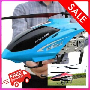 80cm Super Large RC Helicopter Chopper + Remote Control Aircraft Anti-fall New