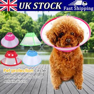 Pet Dog Cat Elizabethan Collar Wound Healing Collar Protection Anti-Bite Cone UK