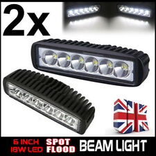 2 x 18W LED Work Lights Bar Spot Light Offroad Car Jeep ATV 4WD 12V 24V UK STOCK