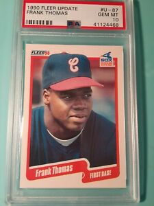 1990 Fleer Update FRANK THOMAS RC HOF Chicago WHITE SOX Rookie card # U-87