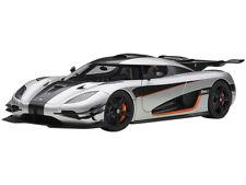 KOENIGSEGG ONE: 1 GRAY & CARBON BLACK 1/18 MODEL CAR BY AUTOART 79017