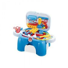Childrens Toy, Pretend Play Doctors Set in sturdy stool/carry case