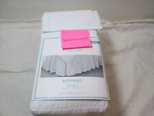 "New Simply Shabby Chic White  King  Bedskirt ~ 78""x80""x15"" Drop NIP"
