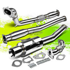 """4""""ROLL TIP PERFORMANCE TURBO CATBACK+UP+DOWN PIPE EXHAUST KIT FOR WRX/STi GD/GG"""