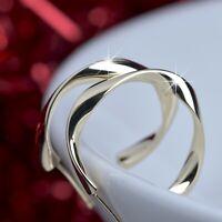 18k yellow gold 925 silver open hoop stud earrings twist band pattern hoops