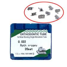 20/set Orthodontic Dental Roth 022 Bonding Single Buccal Tubes For 1st molar