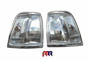 FOR TOYOTA HILUX LN/RN85 2WD 91-97 CRYSTAL CORNER LIGHT,CHROME RIM- PAIR(LH+RH)