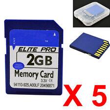 5 pcs 2G 2GB SD Card Secure Digital Memory Card For Nikon Cannon Camera Laptop